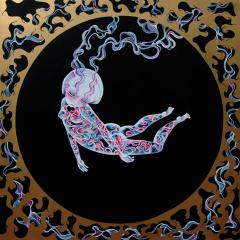 'Levitate' painting by Everly Dark