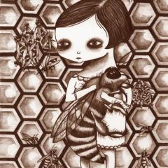 'Queen Bee' illustration by Everly Dark