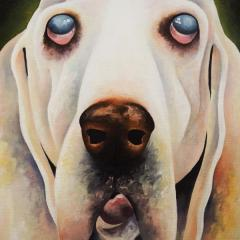 'Buddy and Toby' a painting by Everly Dark