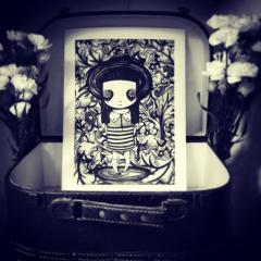 'Flora May' giclee print by Everly Dark