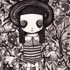 'Flora May' illustration by Everly Dark
