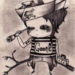 'Goonie' illustration by Everly Dark