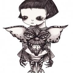 'Feed Your Mogwai' illustration by Everly Dark