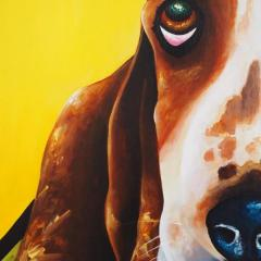 'Happy, not just a dog' a painting by Everly Dark