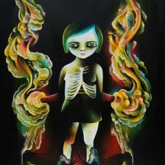'People Stare' painting by Everly Dark