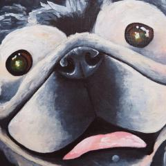 'Smokey and Pugly' a painting by Everly Dark