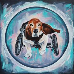 'Rocket'a painting by Everly Dark