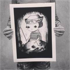 'Sea Shepherd' giclee print by Everly Dark