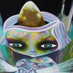 'The Visionary' painting by Everly Dark