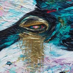 'Tilikum' painting by Everly Dark