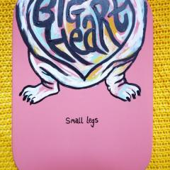 'Big Heart Small Legs' a painting by Everly Dark