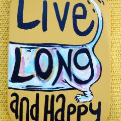 'Live Long and Happy' a painting by Everly Dark